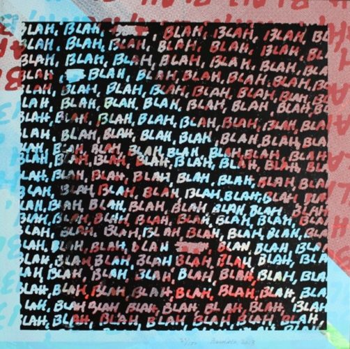 Blah Blah Blah + Background Noise #27 by Mel Bochner at