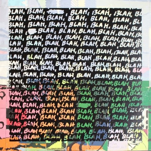 Blah Blah Blah + Background Noise #35 by Mel Bochner at