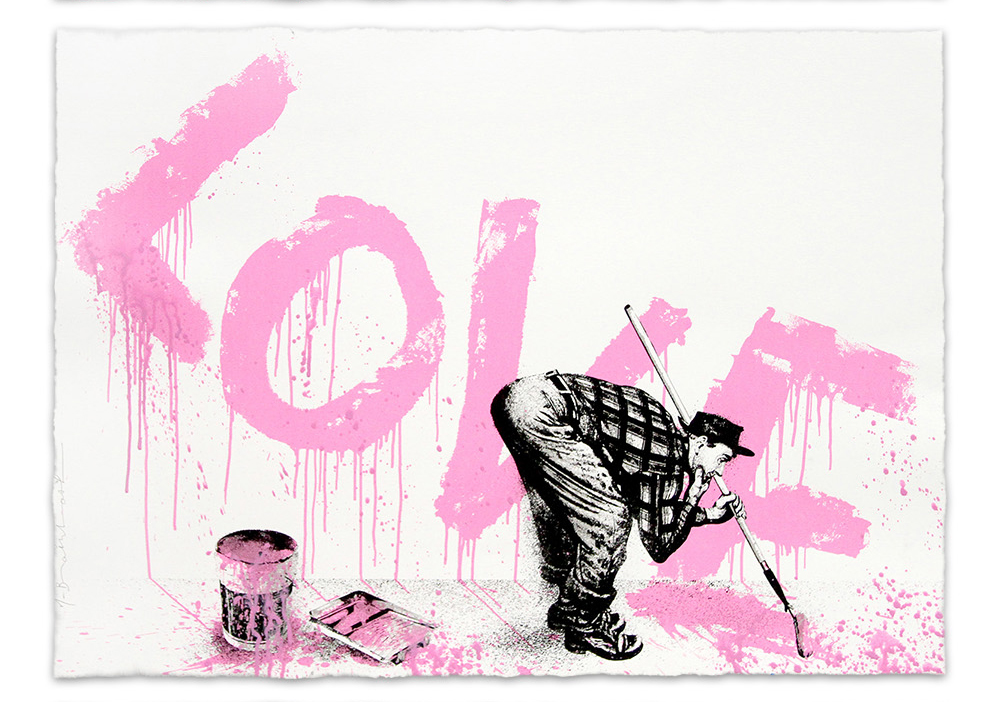 All You Need Is (pink) by Mr. Brainwash