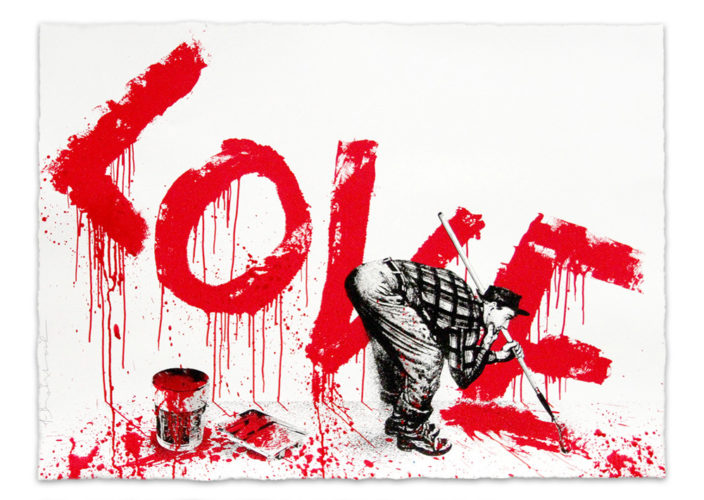 All You Need Is (red) by Mr. Brainwash