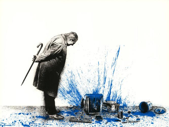 Glitch – Blue by Mr. Brainwash