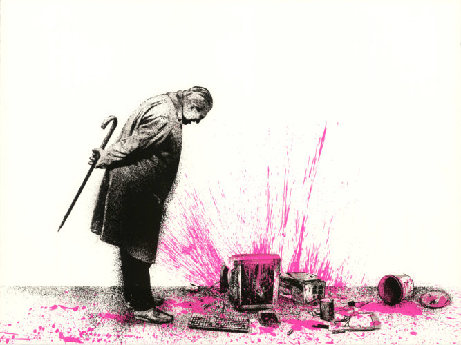 Glitch – Pink by Mr. Brainwash