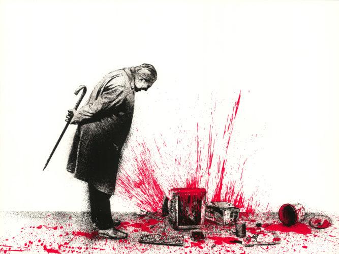 Glitch – Red by Mr. Brainwash