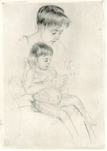 The Manicure (b199) by Mary Cassatt at
