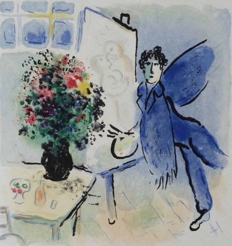 L'atelier Bleu, The Blue Studio by Marc Chagall at