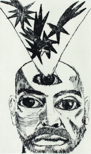 Self Portrait With Stars by Francesco Clemente at