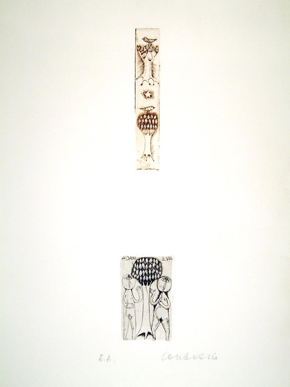 Deux Arbres/adam Et Eve I by Brigitte Coudrain