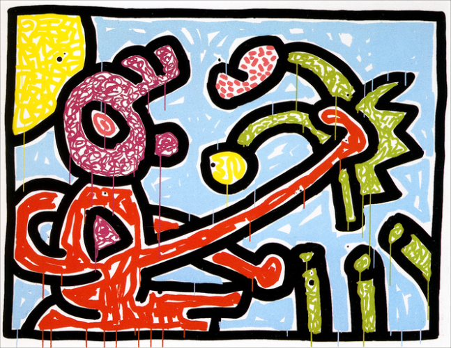 Flowers I by Keith Haring