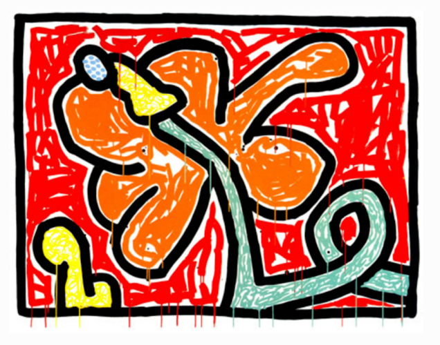 Flowers V by Keith Haring