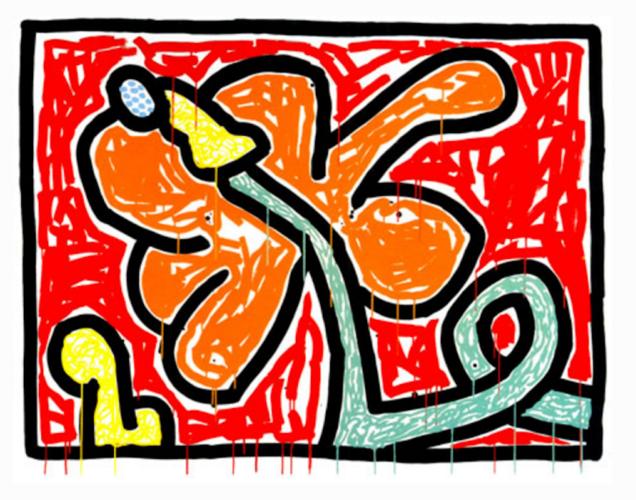Flowers V by Keith Haring at Keith Haring