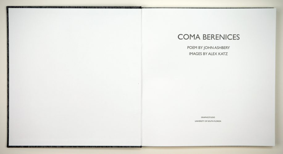 Coma Berenices by Alex Katz at Graphicstudio
