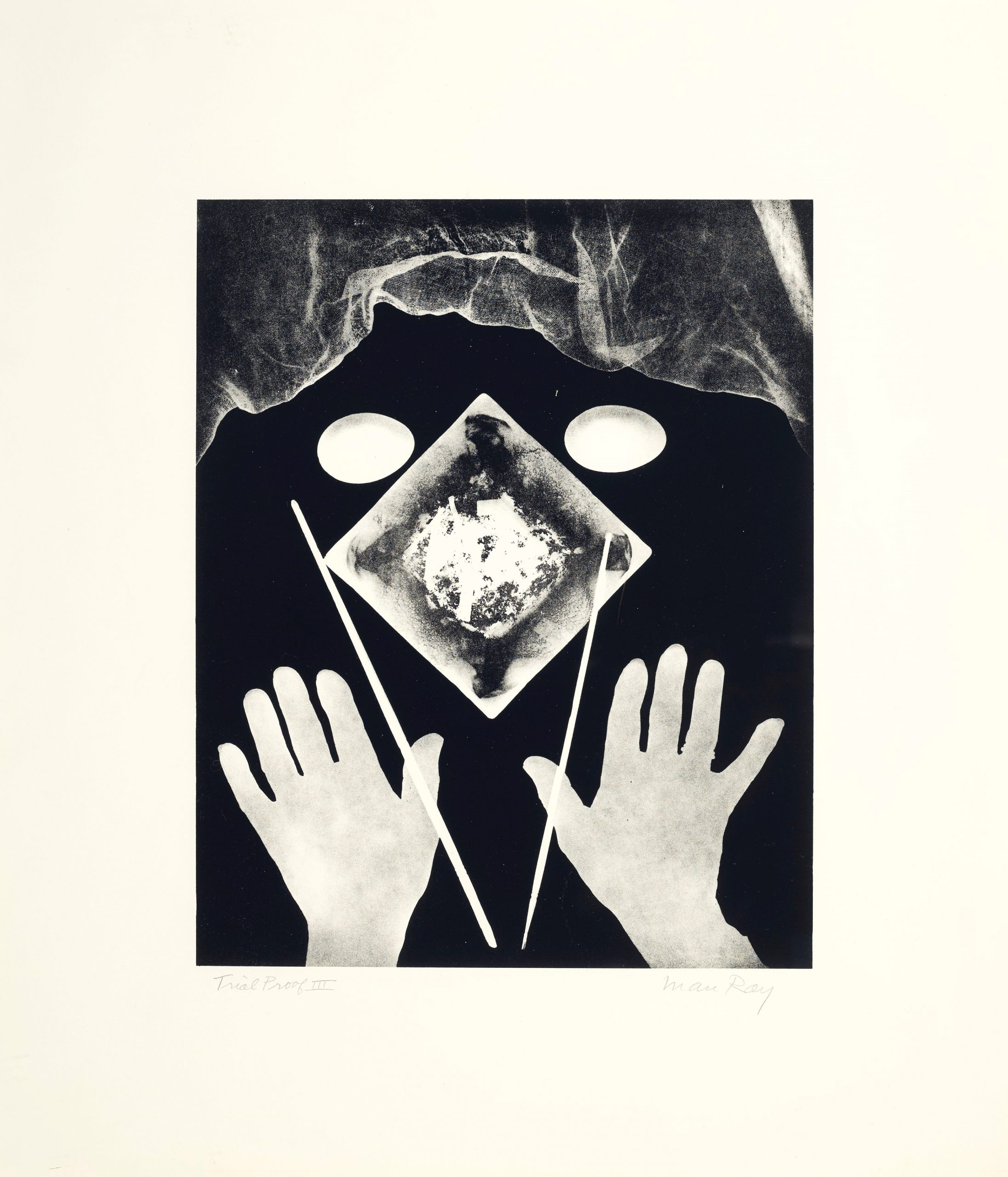 Hands And Eggs by Man Ray