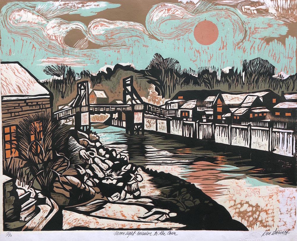 Moonlight Corridor To The Cove by Don Gorvett