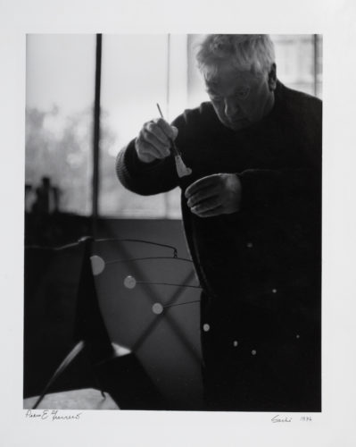 Calder Painting A Small Mobile by Pedro E Guerrero at