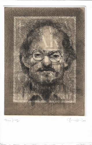 Salman Rushdie by Tom Phillips at