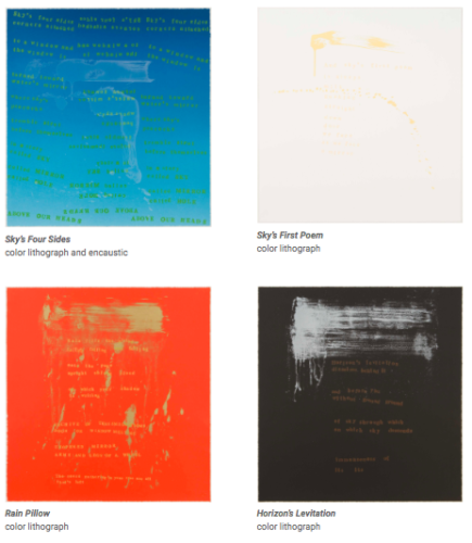 Sky's Four Sides by Pat Steir at