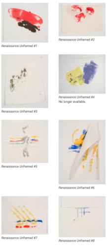 Renaissance Unframed #1 Through #25 by Richard Tuttle