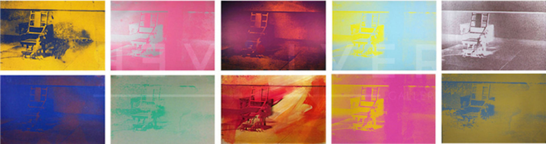 Electric Chair Complete Portfolio by Andy Warhol