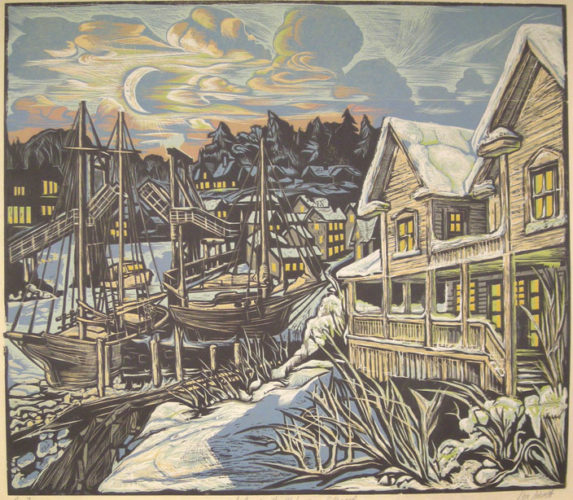 The Cove In The Wake Of The Blizzard by Don Gorvett