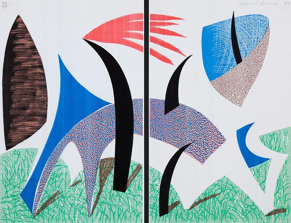 Diptychon by David Hockney