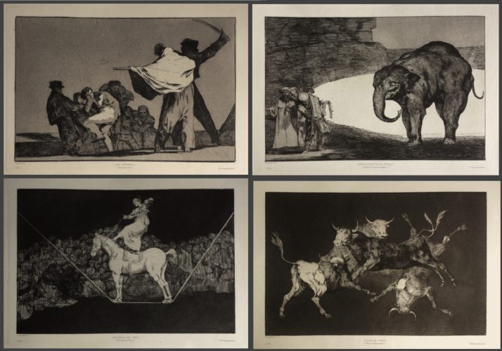 4 Additional Plates For 'los Proverbios' by Francisco Goya