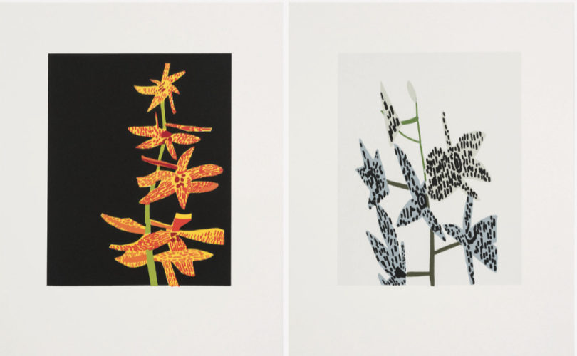 Untitled  (diptych) by Jonas Wood at