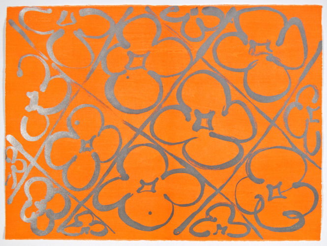 Chromatic Patterns After Graham Foundation-orange by Judy Ledgerwood at Judy Ledgerwood