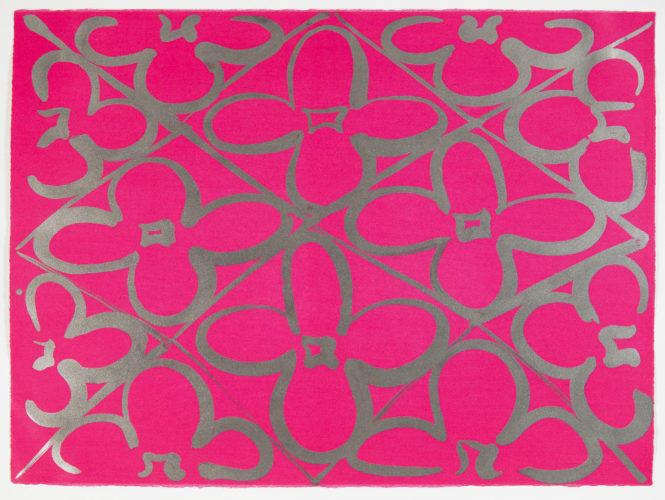 Chromatic Patterns After The Graham Foundation-pink by Judy Ledgerwood at Manneken Press