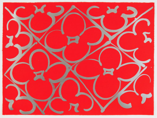 Chromatic Patterns After The Graham Foundation-red by Judy Ledgerwood at Judy Ledgerwood