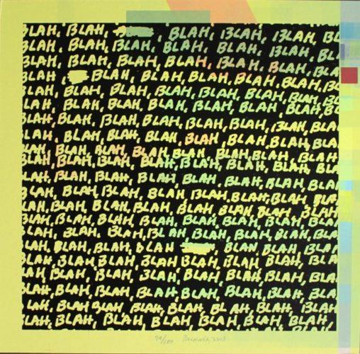Blah Blah Blah + Background Noise #79 by Mel Bochner