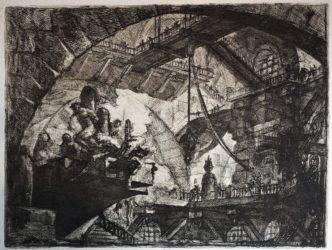 Prisoners On A Projecting Platform, 2nd State by Giovanni Battista Piranesi at Sarah Sauvin (IFPDA)