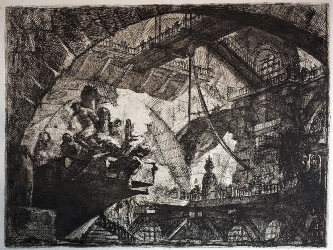 Prisoners On A Projecting Platform, 2nd State by Giovanni Battista Piranesi