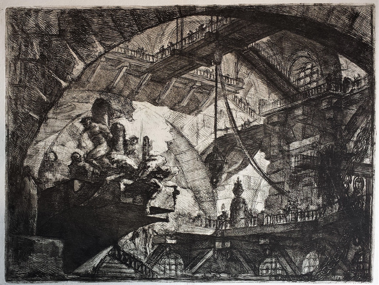 Prisoners On A Projecting Platform, 2nd State by Giovanni Battista Piranesi