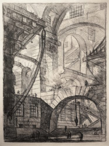 The Smoking Fire – 1st State by Giovanni Battista Piranesi