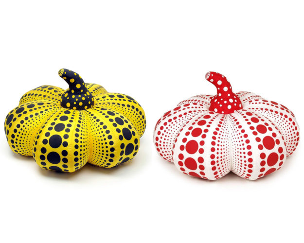 Pumpkin Soft Sculpture (Yellow And Red) by Yayoi Kusama at Lougher Contemporary