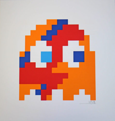 Aladdin Sane – Clyde (orange) by Invader