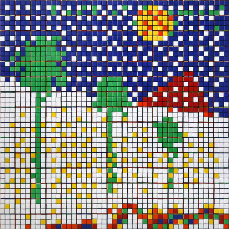 Rubik Boys Don't Cry by Invader