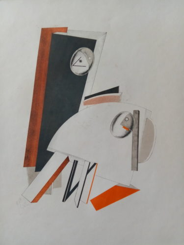Victory Over The Sun: Anxious People by El Lissitzky at