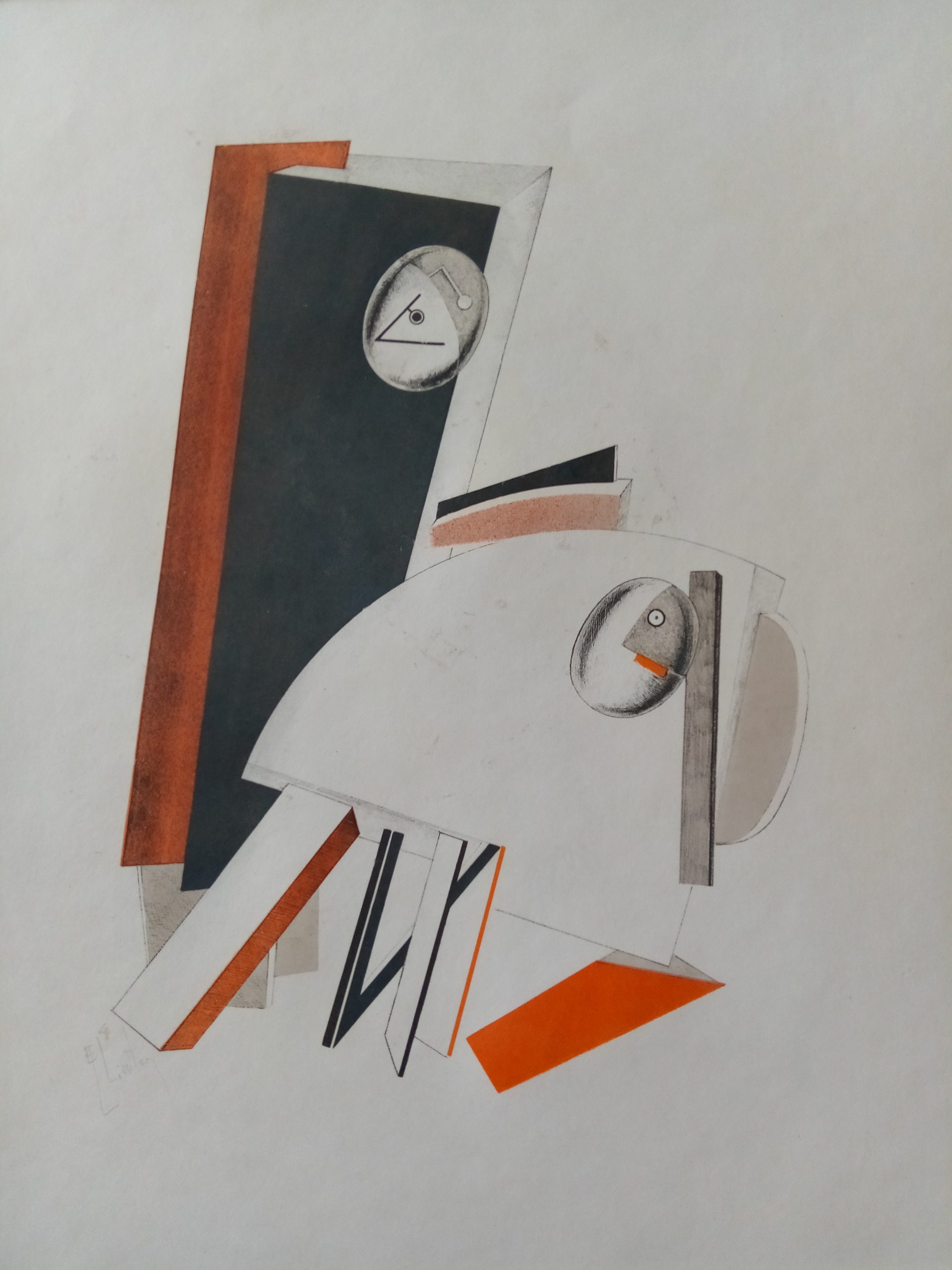 Victory Over The Sun: Anxious People by El Lissitzky