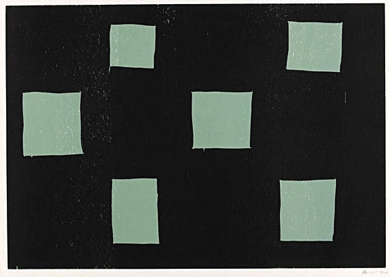 Six Rectangles by Günther Förg at