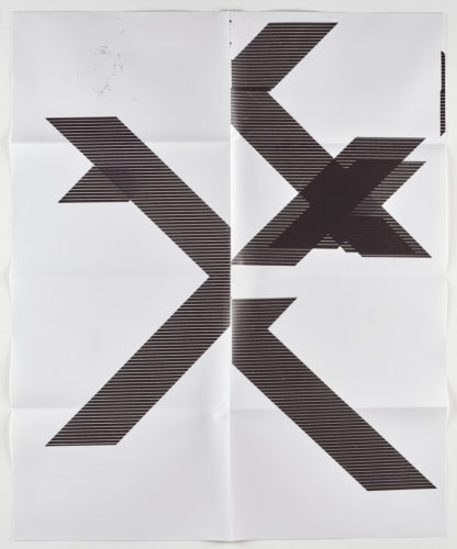 X Poster (untitled, 2007, Wg1210), 2018 by Wade Guyton