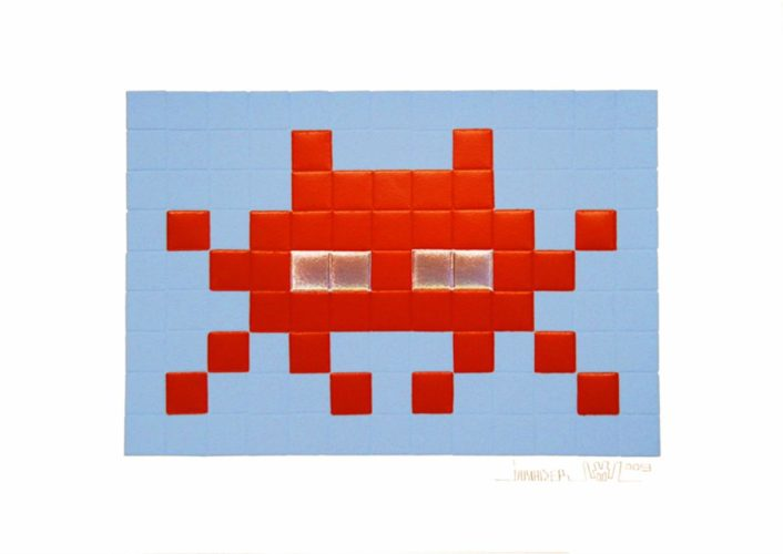 Invasion (red) by Invader