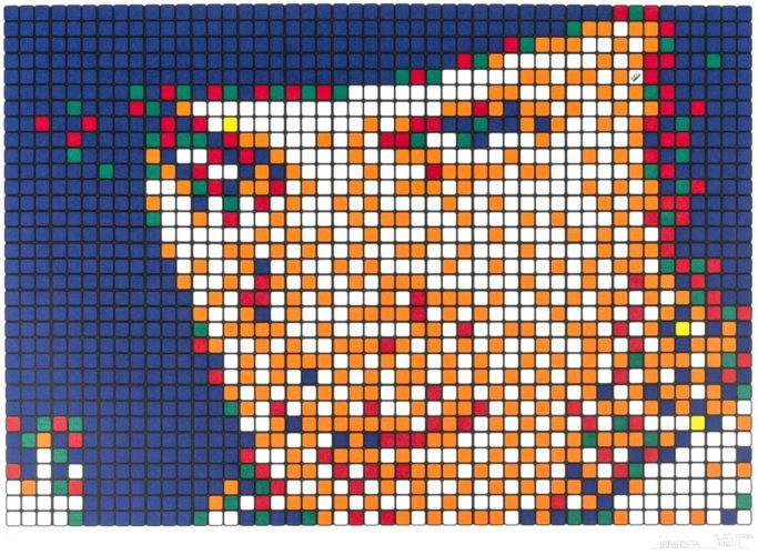 Rubik Kubrick I – Alex (signed Edition) by Invader