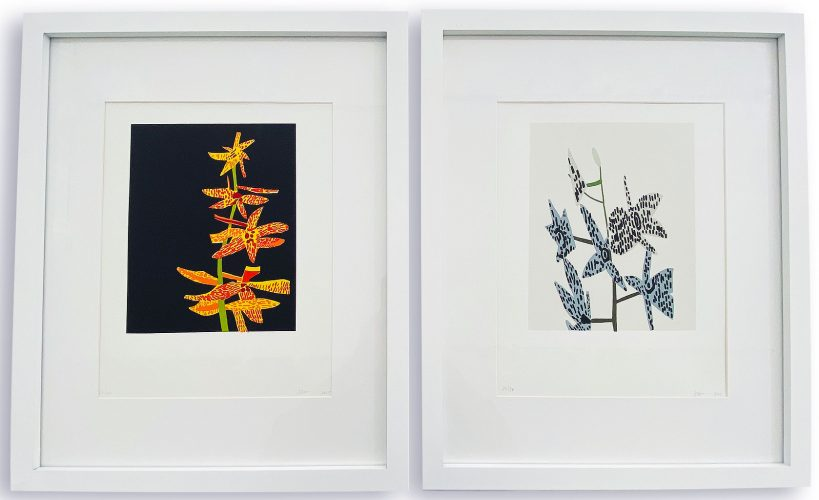 Untitled (Orchid 1 & 2) by Jonas Wood at