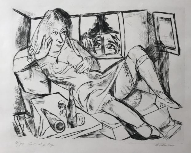 Frau In Der Nacht (woman At Night) by Max Beckmann at