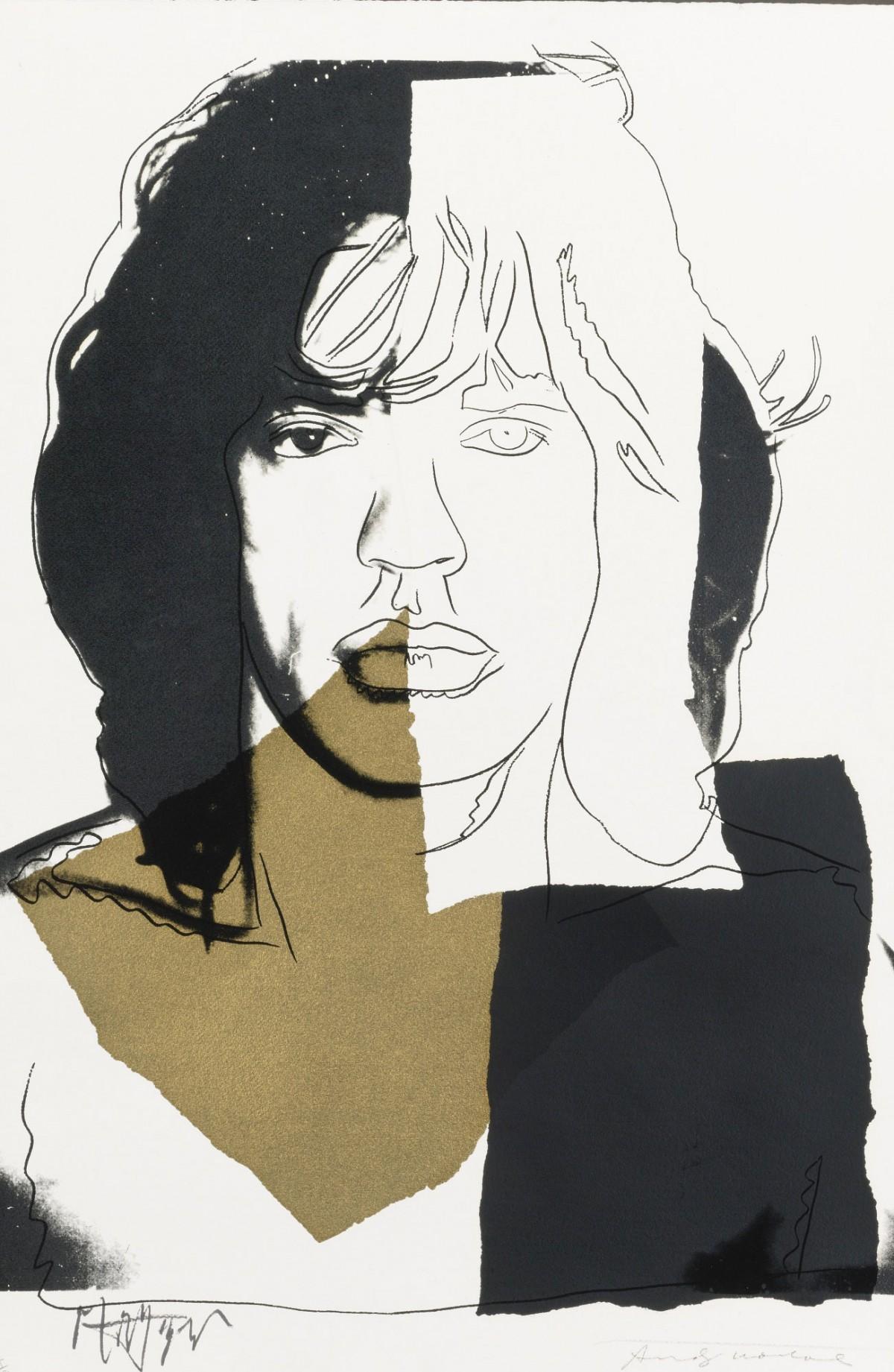 Mick Jagger (fs Ii.146) by Andy Warhol