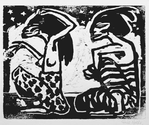 Mann Und Weibchen (mann And Female) by Emil Nolde