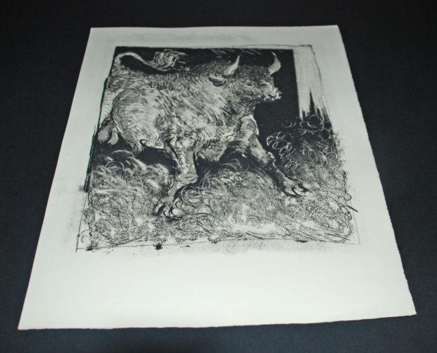 Le Toro Espagnol (the Bull) Bloch 331 by Pablo Picasso