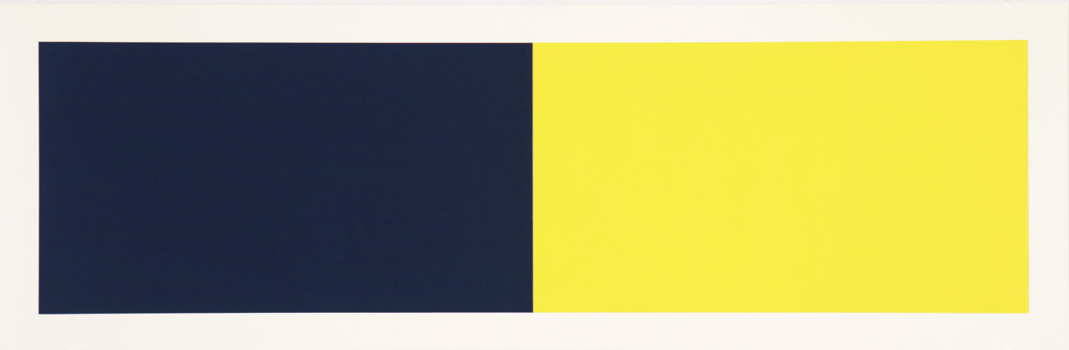 Rivers And Mountains/2, Blue-green/yellow by Rupert Deese at