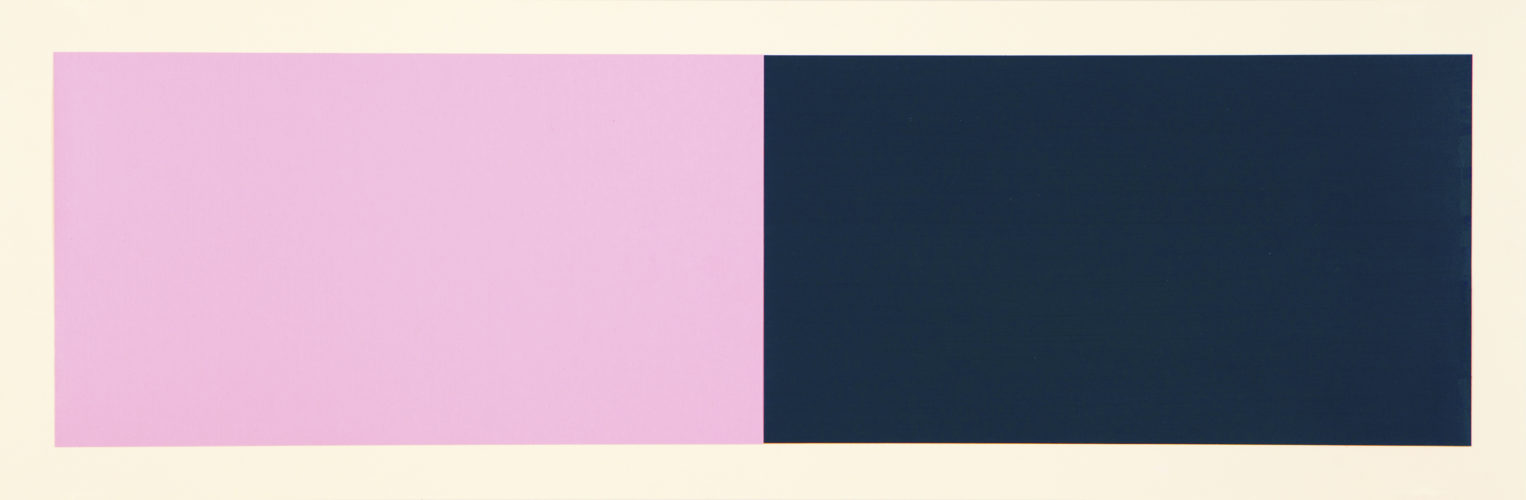 Rivers And Mountains/3, Pink/green by Rupert Deese at